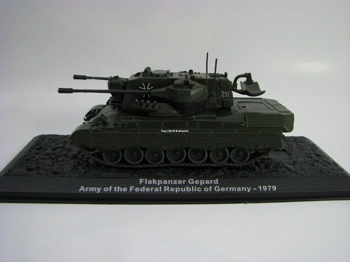 Tank Flakpanzer Gepard Germany 1979 1:72 Atlas edition